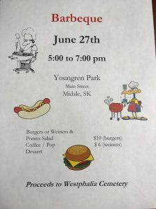 Cemetery Fundraiser BBQ
